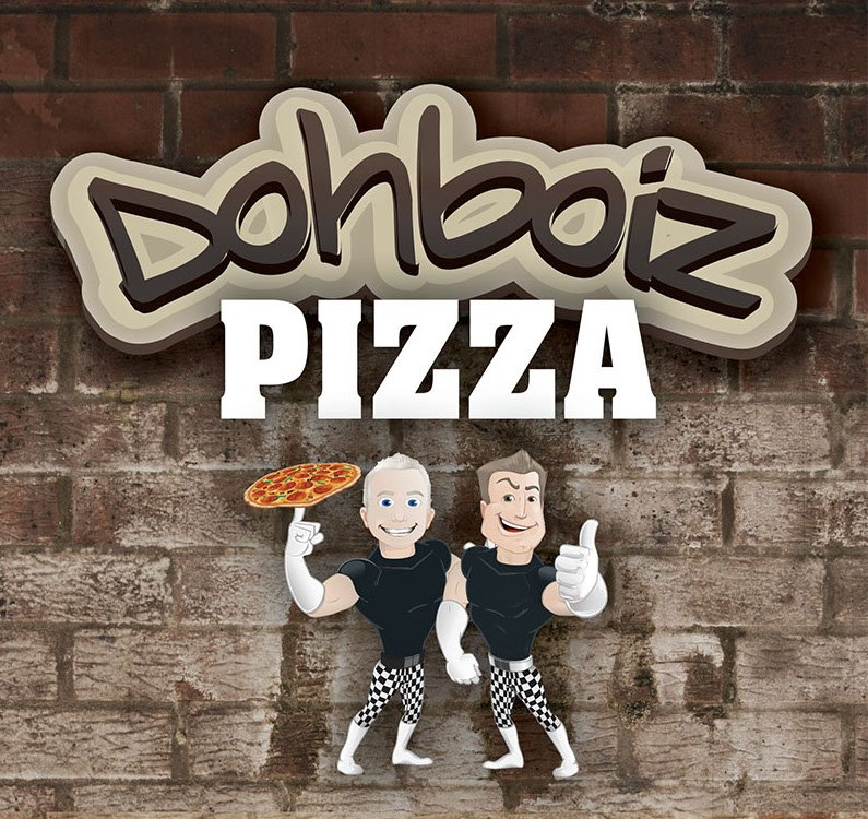 Dohboiz Pizza – brand, logo, signage, cartoons, menu's