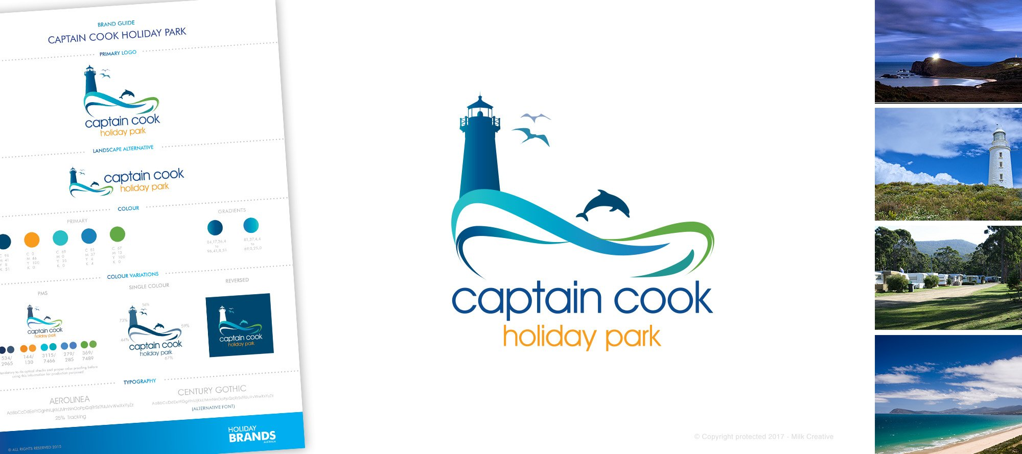 Captain Cook Holiday Park logo design