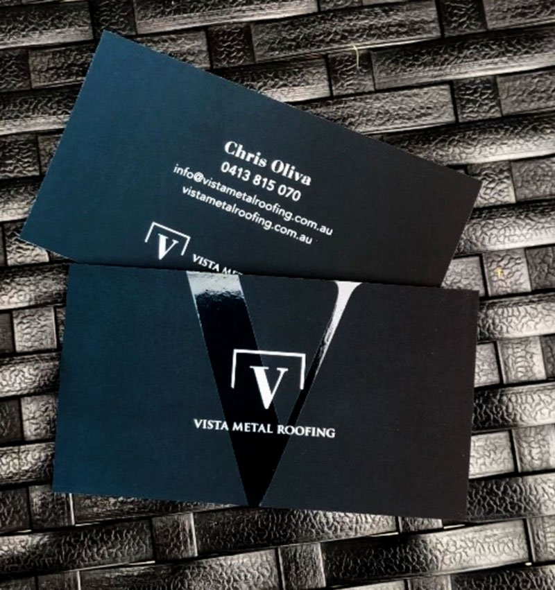 Vista Metal Roofing – Logo Design & Business Card
