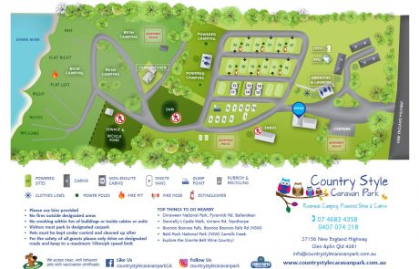 Country Style - Stanthorpe - Map - Holiday Park