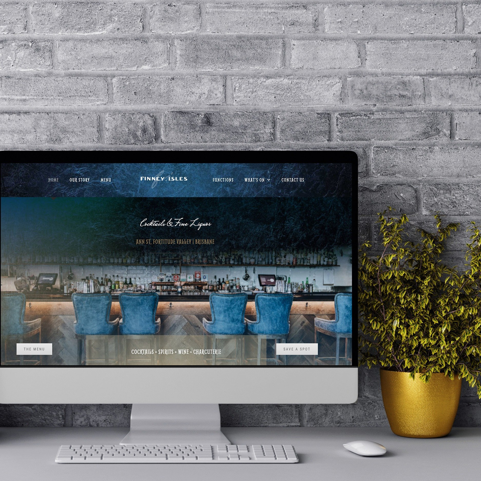 Finney Isles - Cocktail Bar - Hospitality - Website Design - Milk Creative