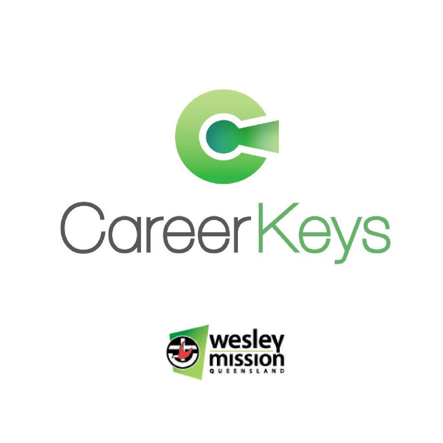 Career Keys Wesley Mission Logo Design