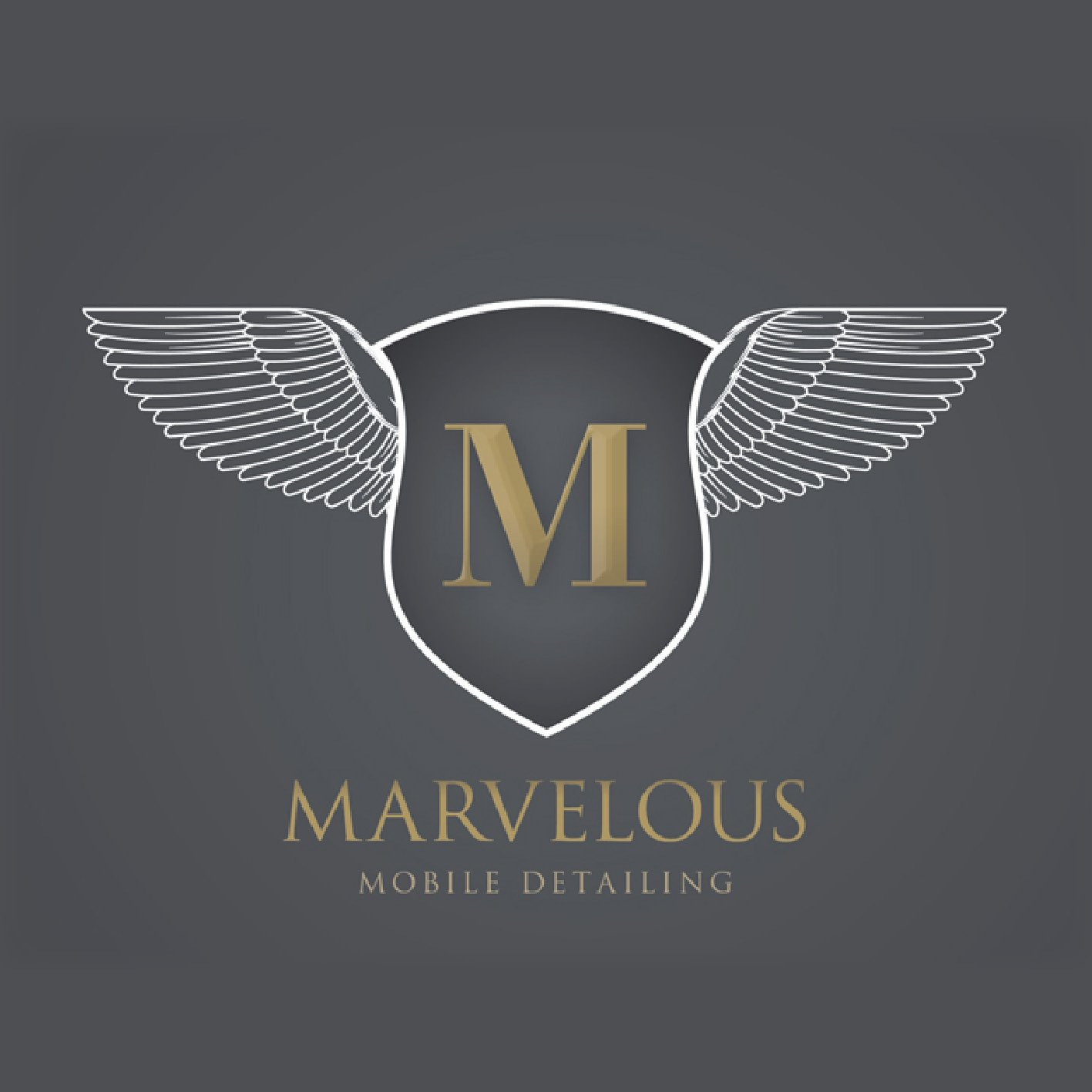 Marvelous Mobile Auto Car Detailing Logo Design