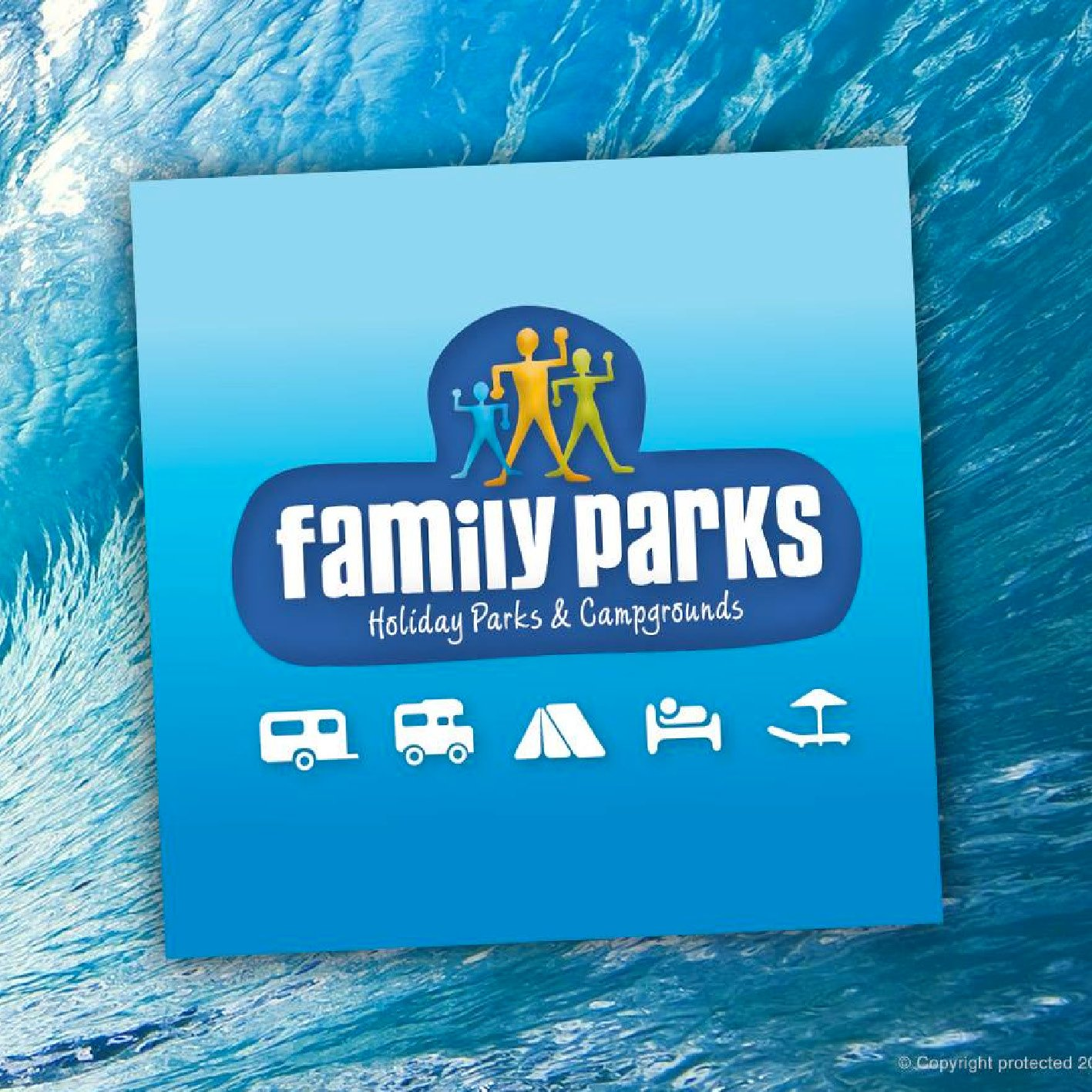 Family Parks Holiday Park Logo Design