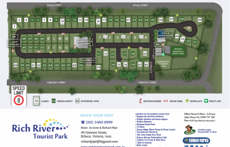 Rich River - Echuca - Map - Holiday Park