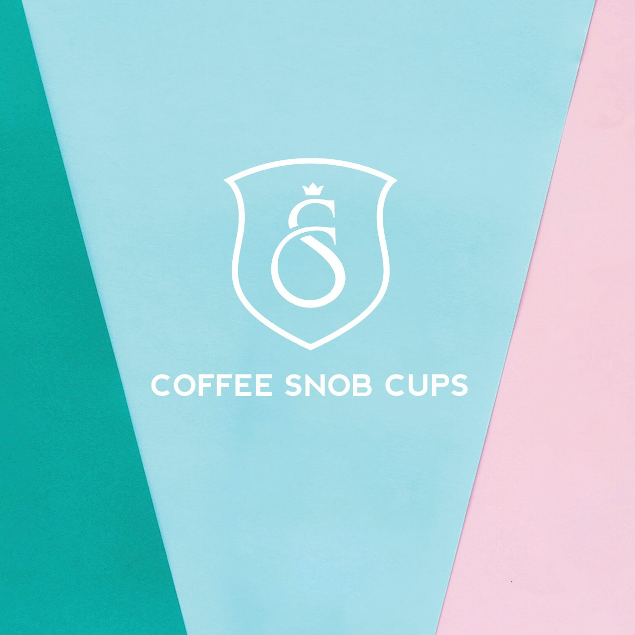 Coffee Snob Cups Logo Design